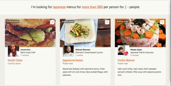 Kitchensurfing:请个厨师回家做饭
