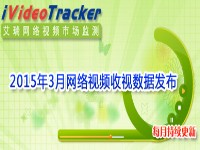 艾瑞iVideoTracker:2015年3月网络视频收视数据发布