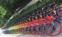 七彩单车亮相多个城市,还带夜光