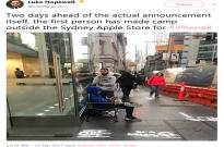 澳大利亚果粉已经开始排队,等待购买iPhone X