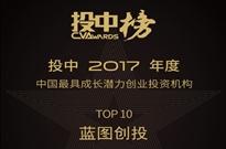 """拿下投中2017""""中国最具成长潜力投资机构""""奖 蓝图创投实至名"""