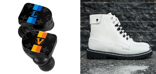 LV耳机(左)与Jimmy Choo智能靴(右)