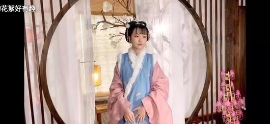 微博博主云豆豆嗳视频中穿的便是明制汉服
