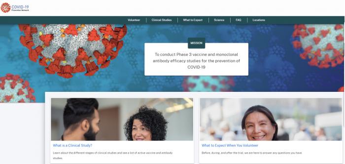 美国新冠病毒预防网站上线 数万民众将被选中参加疫苗临床试验