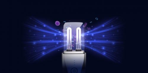 思乐智便携式UVC紫外线灯,两根大功率UVC灯管,近距离辐射效率最多可达到500μW/c�O