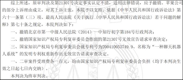 (二审判决否认智臻公司专利权有效 来源:中国裁判文书网)