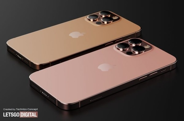 iPhone 12s系列渲染图(图源LETSGODIGITAL)