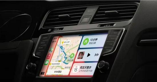苹果CarPlay展示图,图源苹果官网