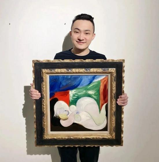 孙宇晨拍下毕加索名画《戴项链的躺卧裸女》