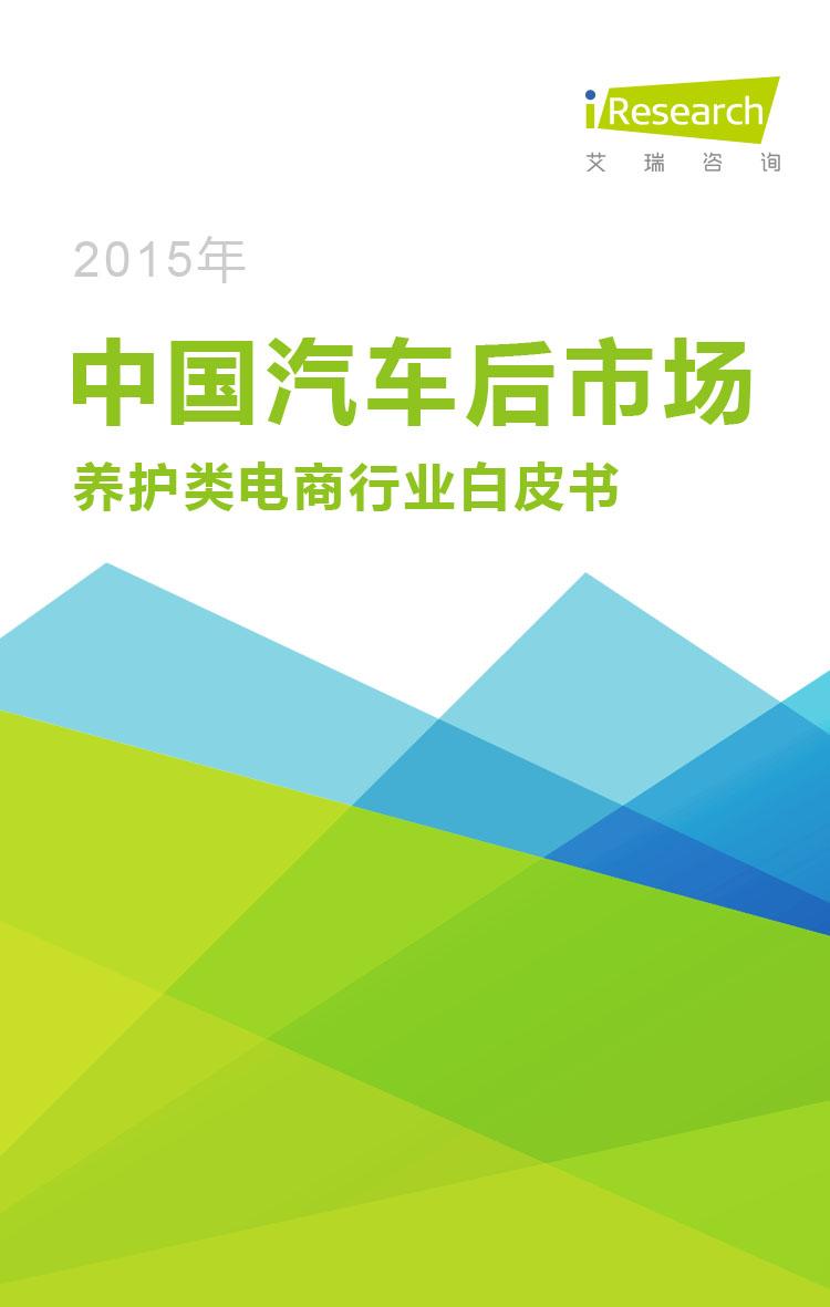 2015年中国汽车后市场养护类电商行业白皮书
